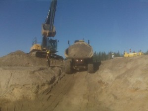 That's me flagging that heavy equipment like a boss - but I definitely didn't want to do it forever!