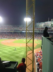 On top of the Monster at Fenway Park