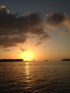 Sunset Pier in Key West, Florida